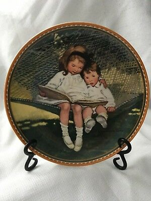 "KNOWLES - Jessie Willcox Smith's  ""Story Time"" collector's Plate 1988"