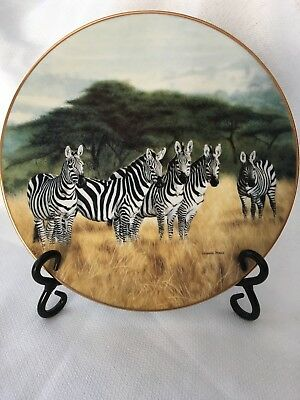 """Charles Frace's 1992 """"Undivided Attention"""" limited plate from Grand Safari"""