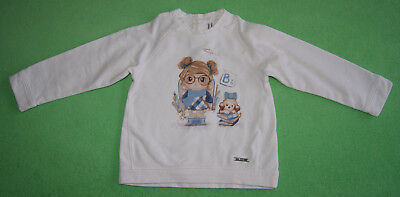 Mayoral white top with girl and dog for girl age 2 years 92cm 24 months shorts