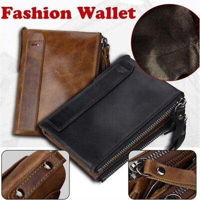 Men Genuine Leather Cowhide Wallet Bifold Coin Purse Card Holder Great Gift EAUS