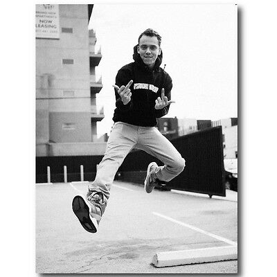 Logic 24X36 Poster Hiphop Rapper Wall Art Decor Singer Young College Artist Dope