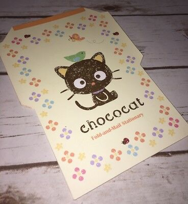 Sanrio Chococat Fold and Mail Stationary Printed Line Paper 34 Sheets on Pad