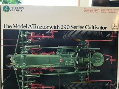 Ertl 1/16 John Deere Model A Precision Tractor With 290 Series Cultivator 5633