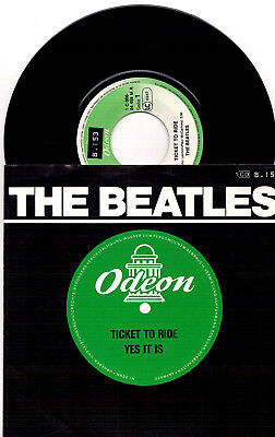 The Beatles ‎– Ticket To Ride / Yes It Is - 7'' Vinyl Reissue Odeon