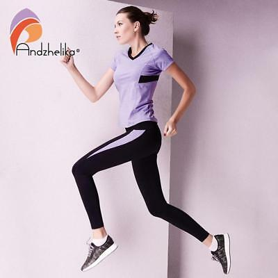 Women Shirt Running Yoga Top Jogging Quick Dry Short Sleeve High Elasticity Suit