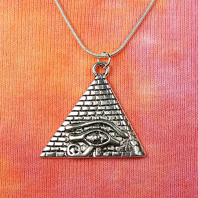 "Eye of Ra Pyramid Necklace 16""-36"" Egypt Egyptian Pendant magic for men or women"