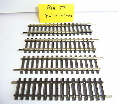 Pilz TT - 4 x gerade Gleise G1/2-83 mm-TOP- 4 x straight tracks -black ties