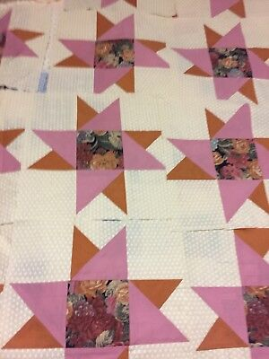 A Star for all Seasons Quilt Squares SET of 42 Pieced Together + extra fabric