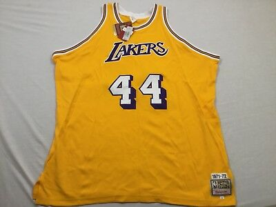 92afafc9e81 M6 New MITCHELL & NESS Los Angeles Lakers Jerry West Jersey MEN'S ...