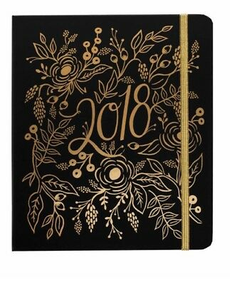 """NEW!! Rifle Paper Company - Planner/Agenda - """"Floral Foil"""" - 2017-2018 Sold Out"""