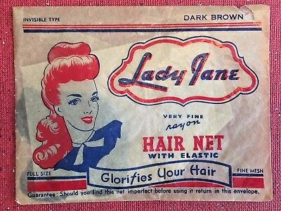 Vintage 1940s Hair Net New in Package
