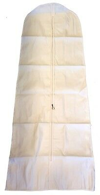 Heavy Duty  Wedding Bridal Dress Cover 72'' White - THICK COTTON CANVAS