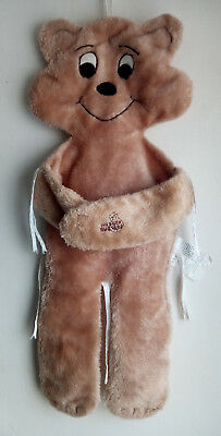 """1985 Hugger Buggers Teddy Bear Fabric Seat Chair Liner Cover Brown 31"""""""