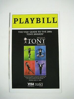 Tony Awards Playbill Visa Guide to 2006 60th Annual Broadway