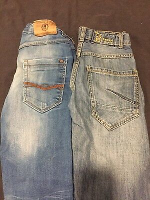 Lot 2 Jeans Denim T11/12ans