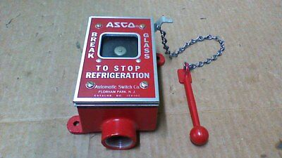Asco Emergency Break Glass To Stop Refrigeration Switch / (1) N.o. (1) N.c./ 15A