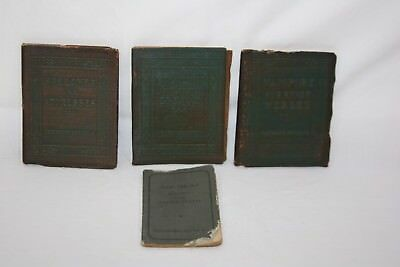 Vintage Lot of 4 Miniature Books: Little Leather Library, Tom Thumb