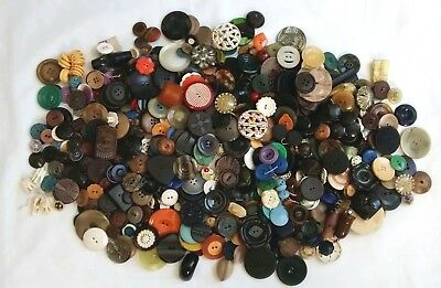Antique Vintage Celluloid Early Plastic Sewing Button Mixed Huge Lot 2 lbs +