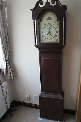 longcase clock 18th century 30hr Daventry j mauld 1795 mahogany and pine case