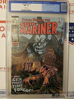 The Sub-Mariner #16 - Marvel Silver - CGC OLD LABEL - 9.2 NM- GREAT COVER