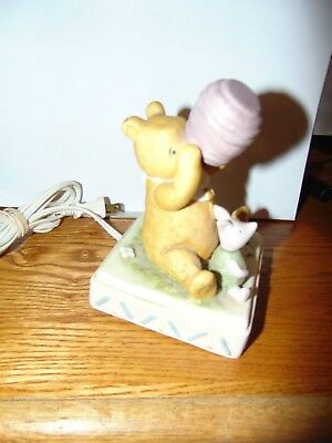 Classic Disney Winnie the Pooh & Piglet Ceramic Bed Night Light