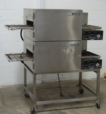 Lincoln Impinger 1132 Double Stack Electric Conveyor Pizza Sub Oven Used
