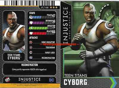 Injustice Arcade Dave and Busters Gold Card 37 Cyborg NONFOIL