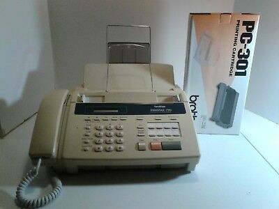 Brother IntelliFAX-770 Plain Paper Fax Phone & Copier + new unopened print