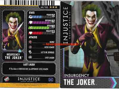 Injustice Arcade Dave and Busters Gold Card 48 The Joker NONFOIL