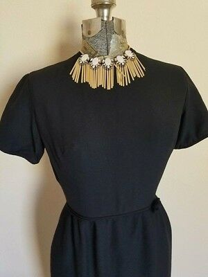 Vintage Retro 1950's 1960's Sweet Little Black Dress XS Small AS IS Sale