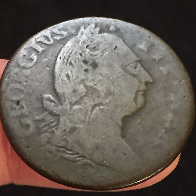 1776 Colonial Times Ireland -Copper Hibernia 1/2 Penny 1776