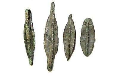 LOT OF FOUR ANCIENT PRE COIN FORMS. BRONZE.  1v510