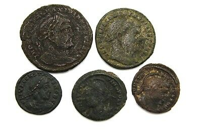 LOT OF LATER ROMAN IMPERIAL COINS. FOR CLEANING.  1v715