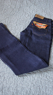 VINTAGE DEADSTOCK NOS LEVIS ORANGE TAB SADDLEMAN JEANS 1970s 80s 30 X 34 USA K2