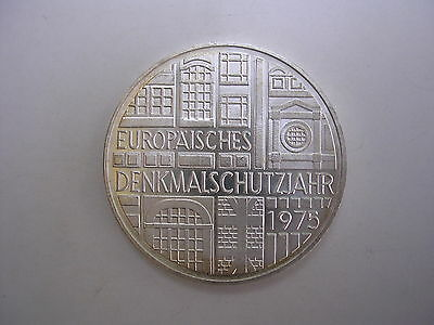 1975 F German 5 Mark Silver Coin World Germany Commemorative UNC BU