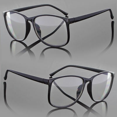 Designer Large Retro Clear Lens Nerd Frames Glasses Mens Womens Eyewear Fashion