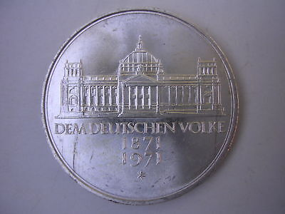 1971 G German 5 Mark Silver Coin World Germany Commemorative UNC BU