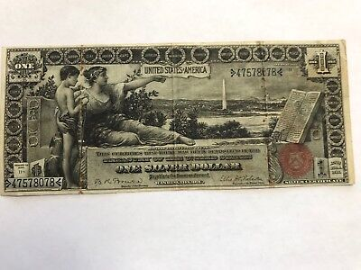 Fr. 225 Silver Certificate  1896 United States One Silver Dollar $1