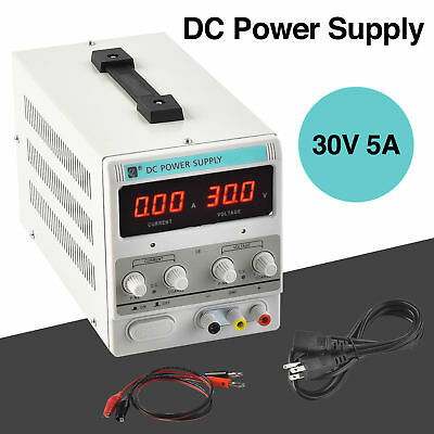 30V 5A Digital DC Power Supply Variable Adjustable Lab Bench Test Equipment