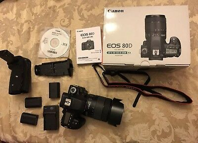 Canon Eos 80d with EF-S 18-135mm IS USM Kit