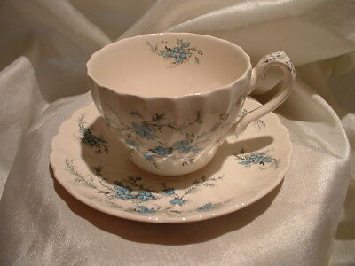 Vintage Cup & Saucer by Myott FORGET ME NOT Staffordshire Fine China ENGLAND