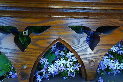 Vintage French Gothic Church Carved Oak Arch Architectural Element