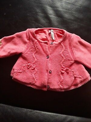 gilet rose fille taille 3 mois Orchestra  neuf