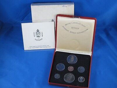 1967 Royal Canadian Mint Ottawa 7 Coin Set in Red Display Case