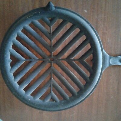 Antique Cast Iron Rare Frying Pan Grill, Strainer, Broil etc.