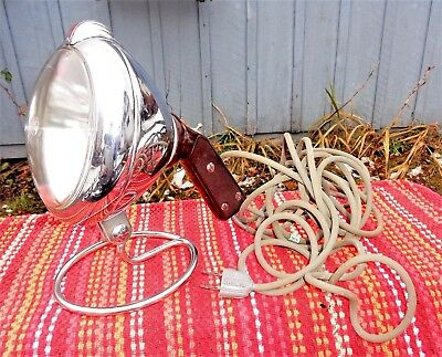 Vintage UNITY Portable Spotlight GE Lamp w/ Base Household Great Condition