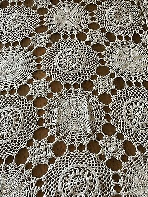 Handmade Lace Embroidered Oval Table Cloth …beautiful as new with tag