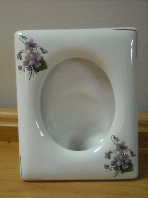 Kernewek Pottery 'open' Photo Frame Decorated With Violets