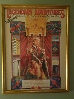 Donald Trump autographed poster from The Castle