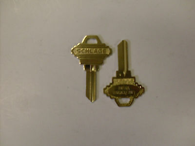 Lot of 2 Large Bow Schlage key blanks -Can be cut to your existing 5 pin key